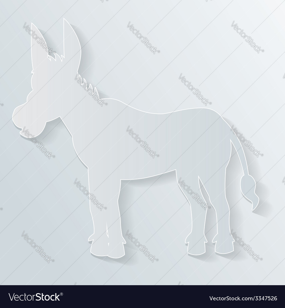 Paper donkey vector | Price: 1 Credit (USD $1)