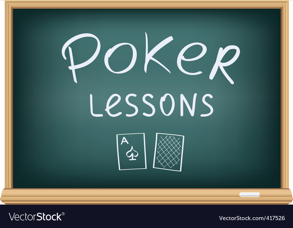 Poker lessons vector | Price: 1 Credit (USD $1)
