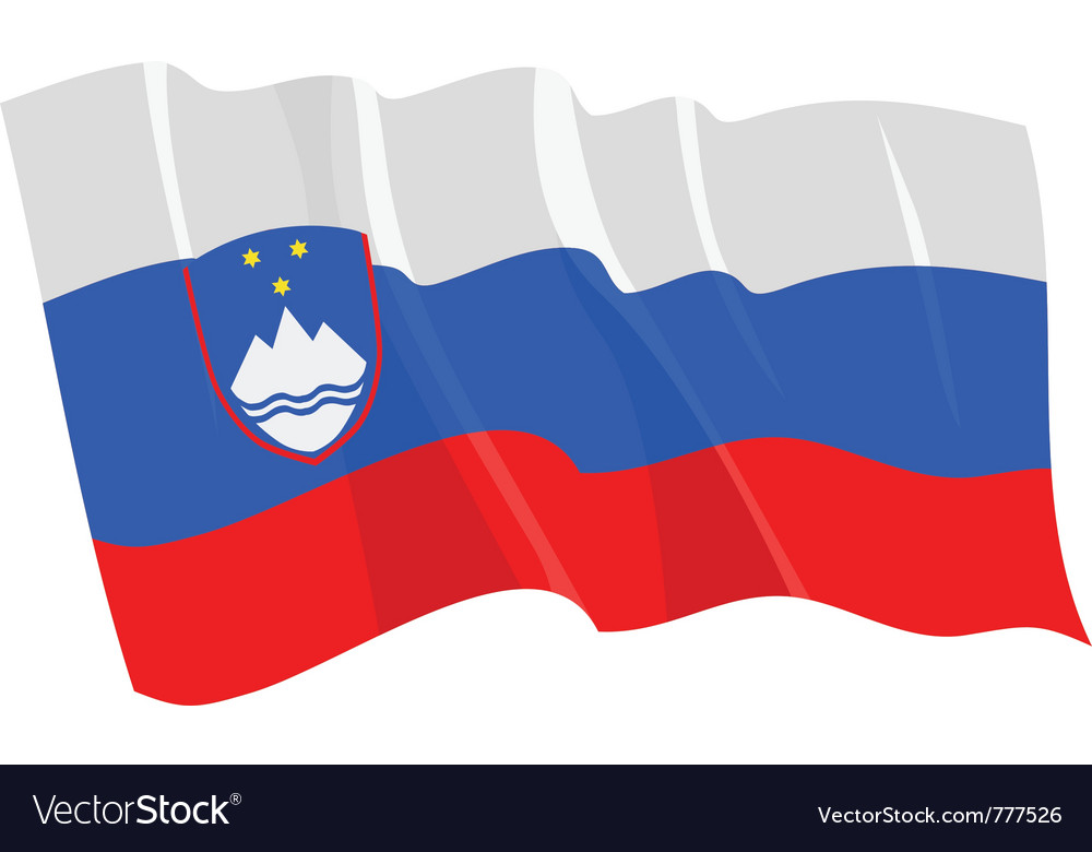 Political waving flag of slovenia vector | Price: 1 Credit (USD $1)
