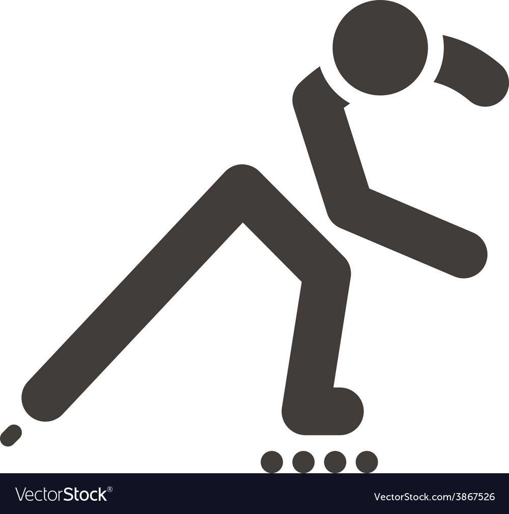 Roller skates icon vector   Price: 1 Credit (USD $1)