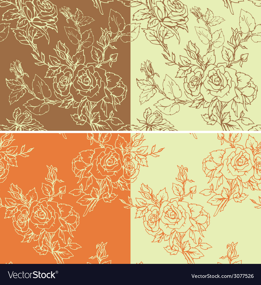 Rose 1color seam 380 vector | Price: 1 Credit (USD $1)