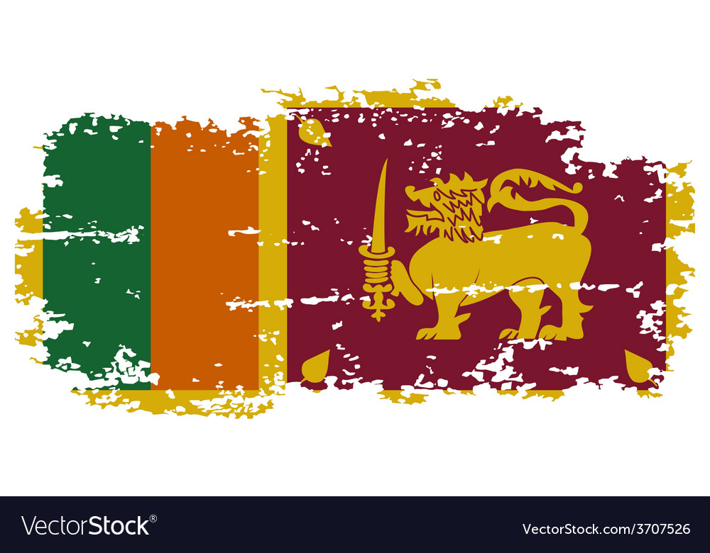 Sri lanka grunge flag vector | Price: 1 Credit (USD $1)