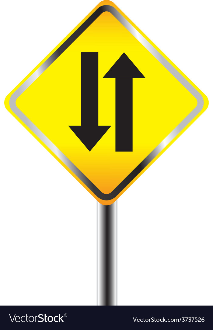 Two way traffic sign vector | Price: 1 Credit (USD $1)