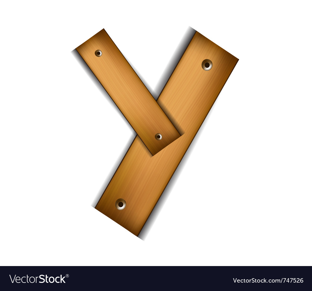 Wooden type y vector | Price: 1 Credit (USD $1)