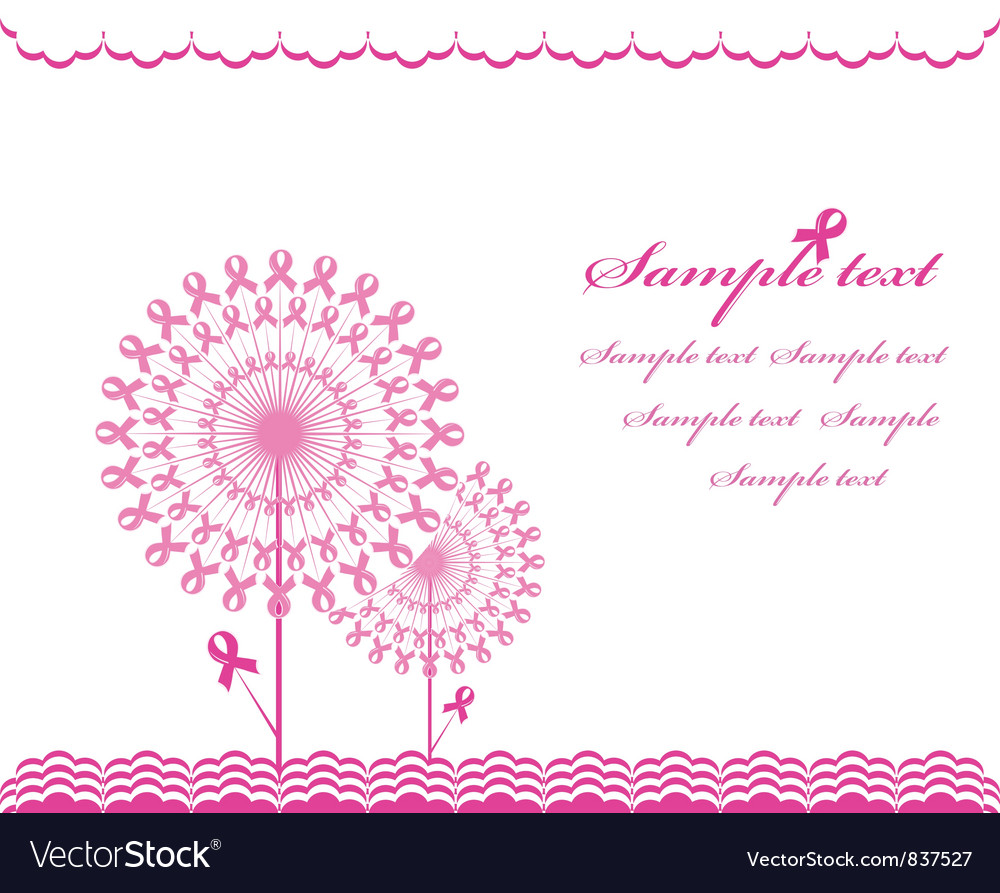 Cabstract pink support ribbon background vector | Price: 1 Credit (USD $1)