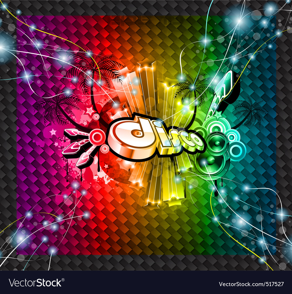 Dj flyer background vector | Price: 3 Credit (USD $3)