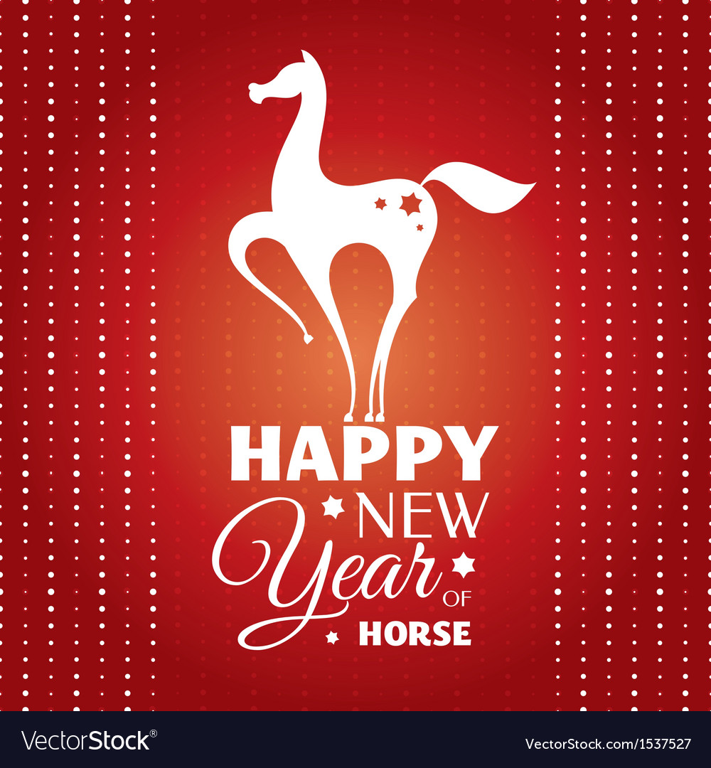 New year card with horse vector   Price: 1 Credit (USD $1)