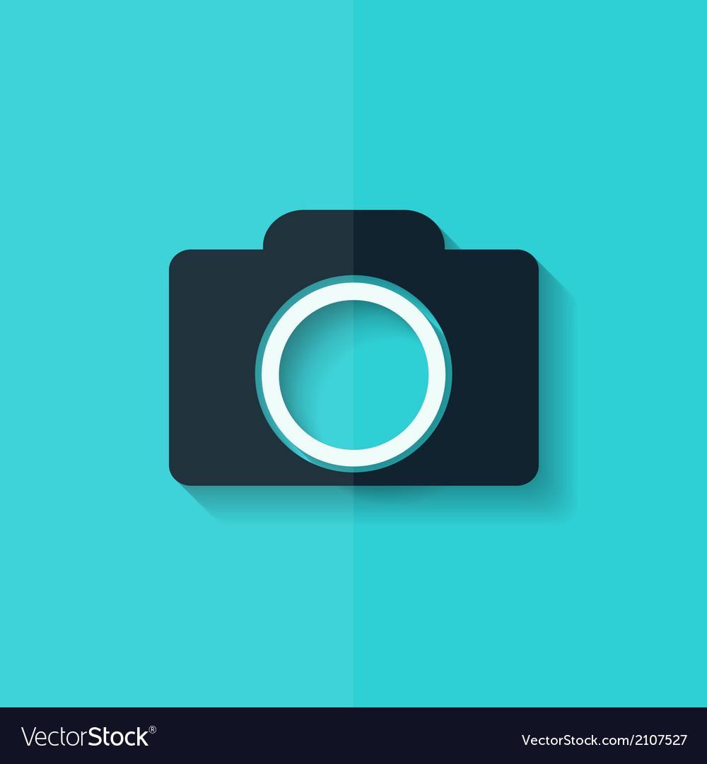 Photo camera icon photography flat design vector | Price: 1 Credit (USD $1)