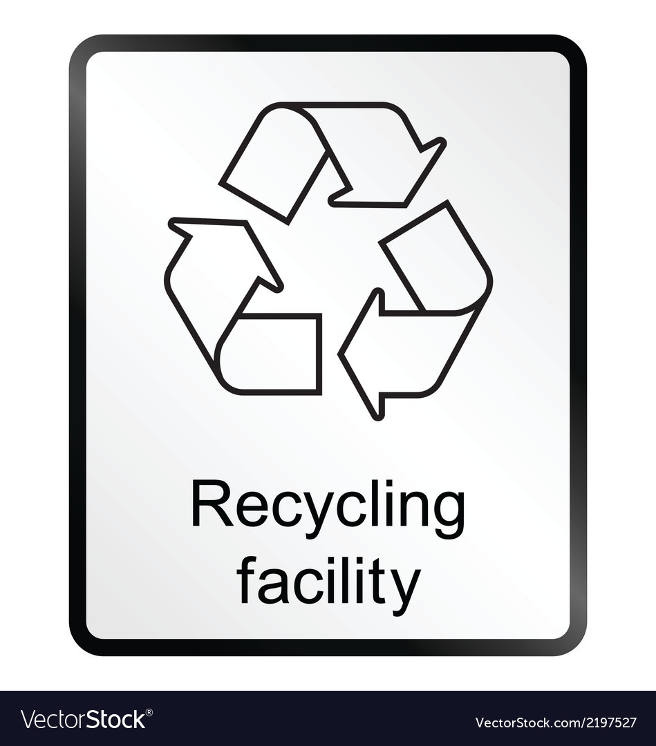 Recycling facility information sign vector | Price: 1 Credit (USD $1)