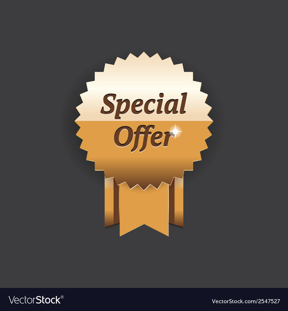 Special offer gold label vector | Price: 1 Credit (USD $1)