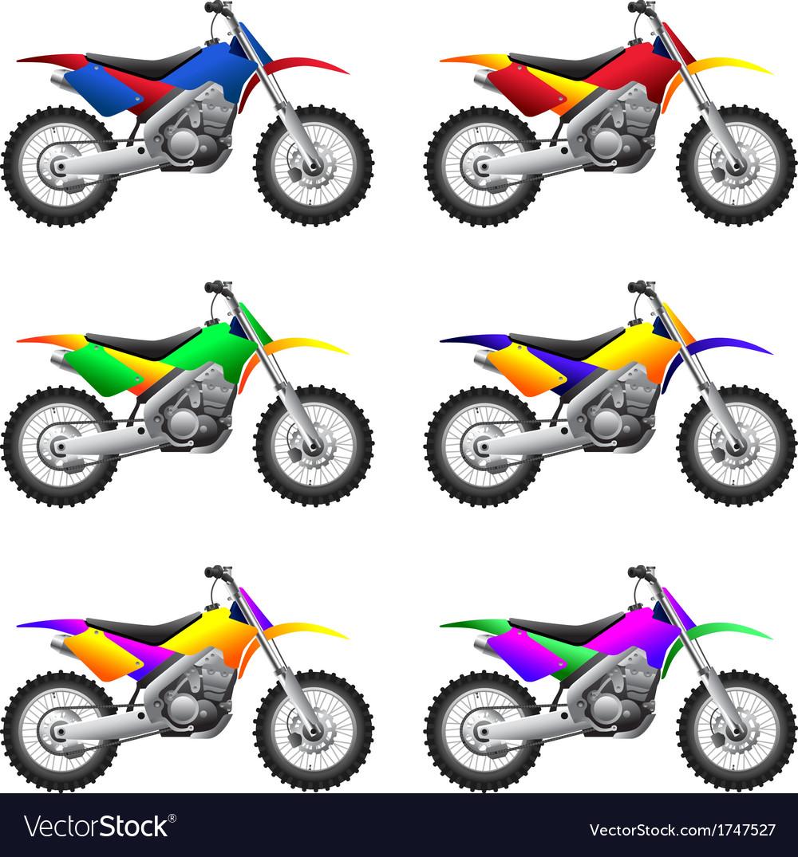 Sport motorbikes vector | Price: 1 Credit (USD $1)