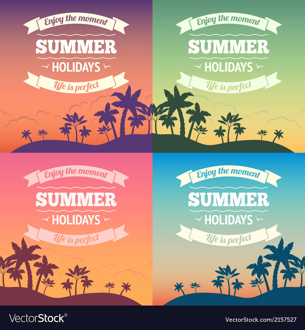 Summer holiday poster vector | Price: 1 Credit (USD $1)