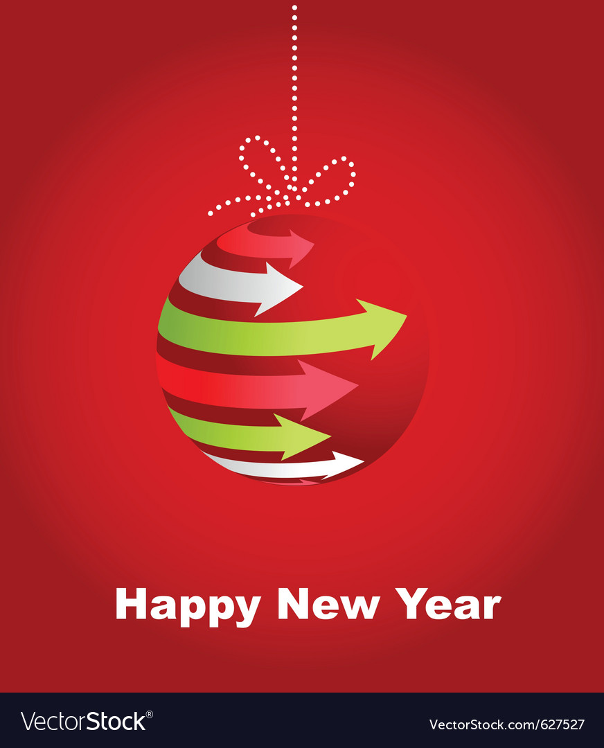 Typographic xmas balls on the red background vector | Price: 1 Credit (USD $1)