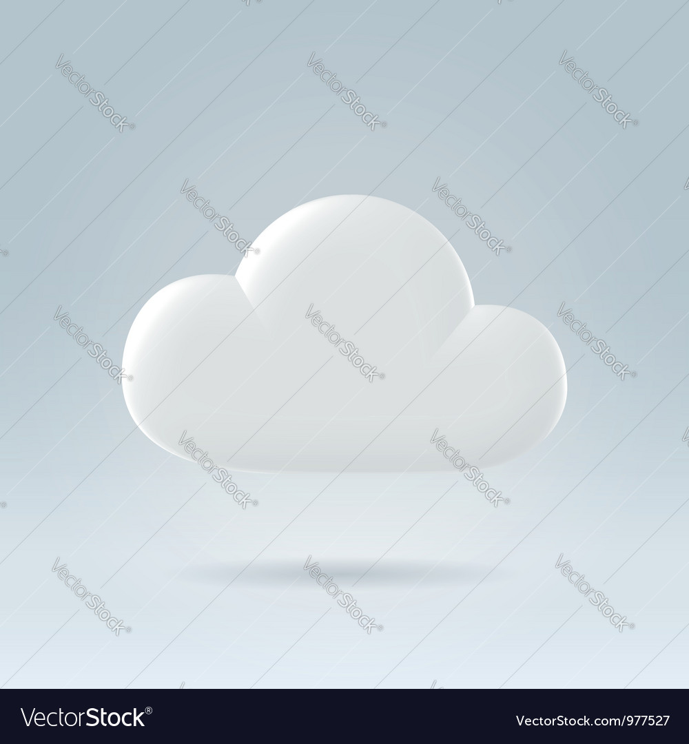 White cloud ove blue vector | Price: 1 Credit (USD $1)
