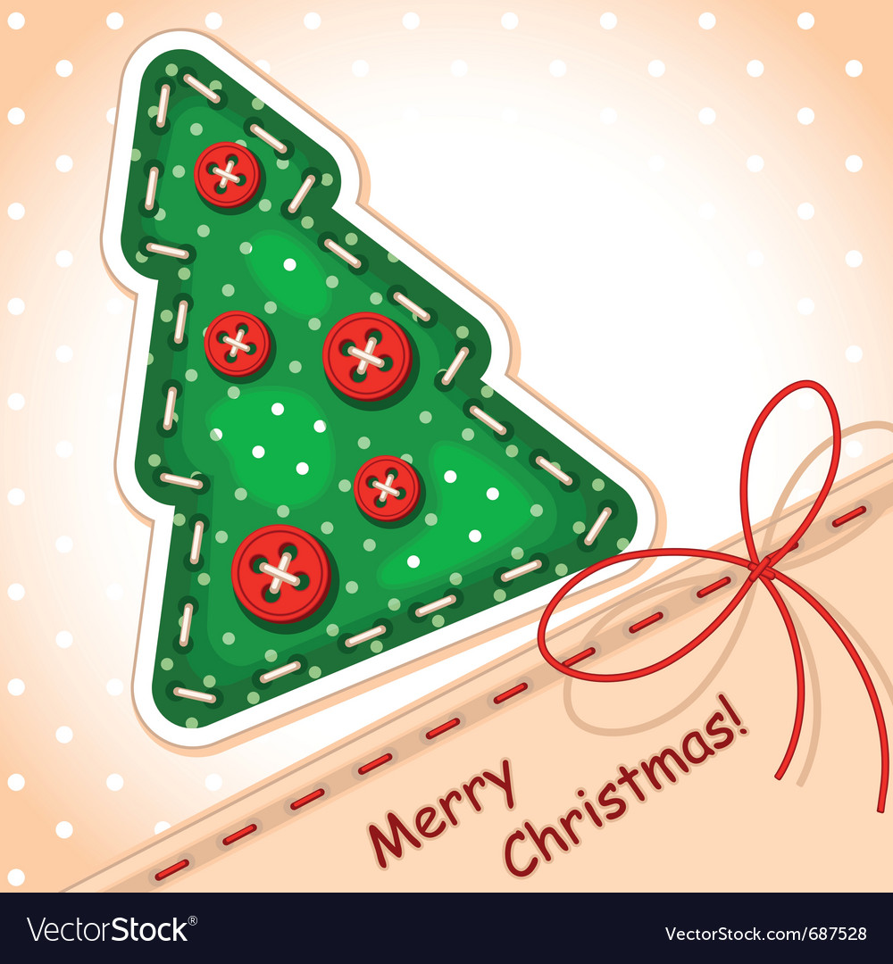 Christmas card christmas tree vector | Price: 1 Credit (USD $1)
