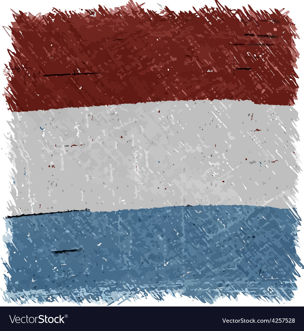 Flag of luxembourg handmade square shape vector | Price: 1 Credit (USD $1)
