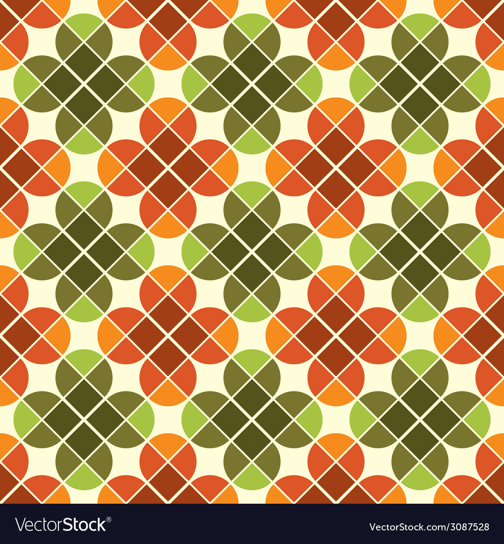 Geometric seamless mosaic tiles pattern with vector | Price: 1 Credit (USD $1)