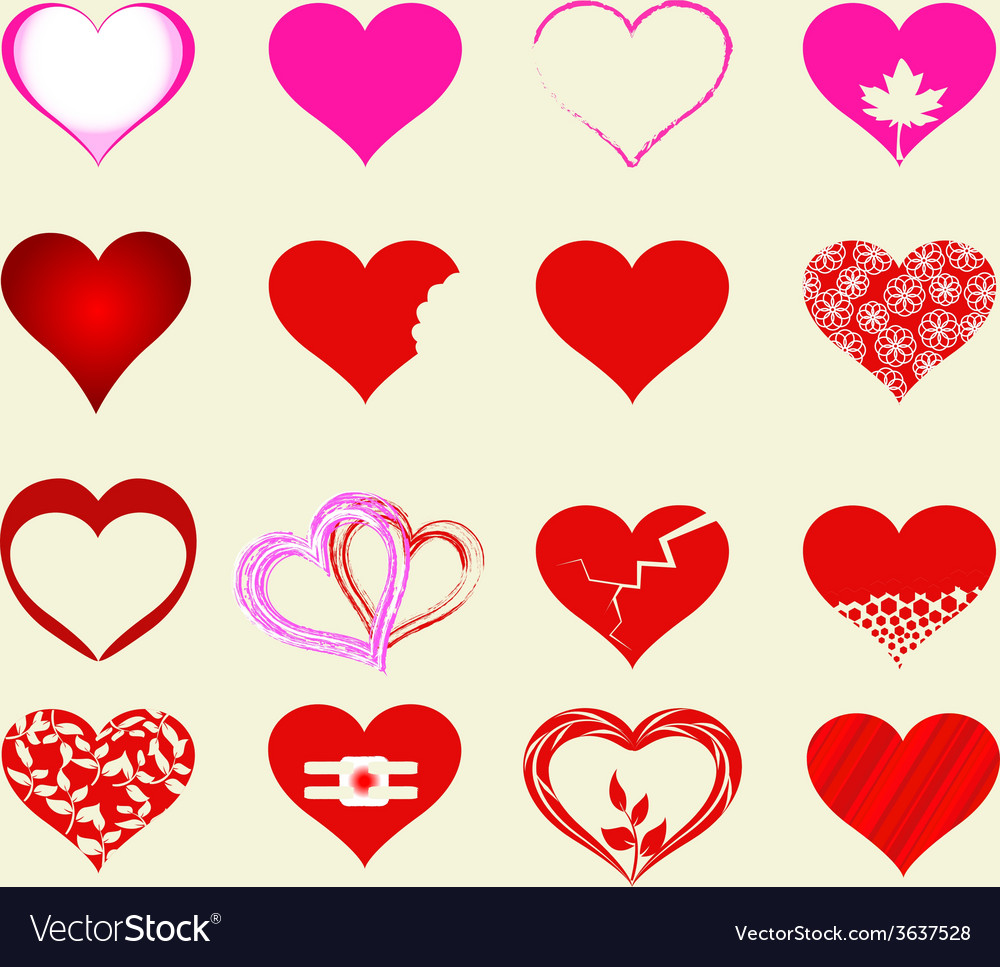 Happy valentines day cards with hearts vector   Price: 1 Credit (USD $1)