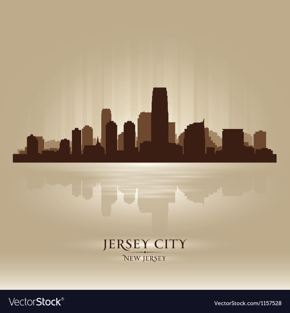 Jersey city new jersey skyline city silhouette vector | Price: 1 Credit (USD $1)