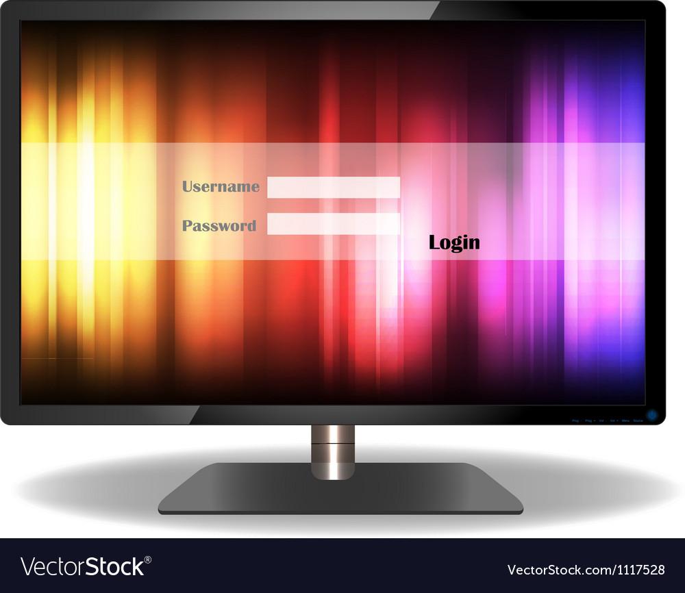 Login television of design vector | Price: 1 Credit (USD $1)