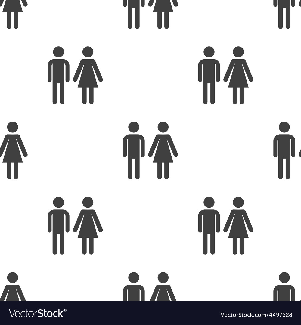 Man and woman seamless pattern vector | Price: 1 Credit (USD $1)