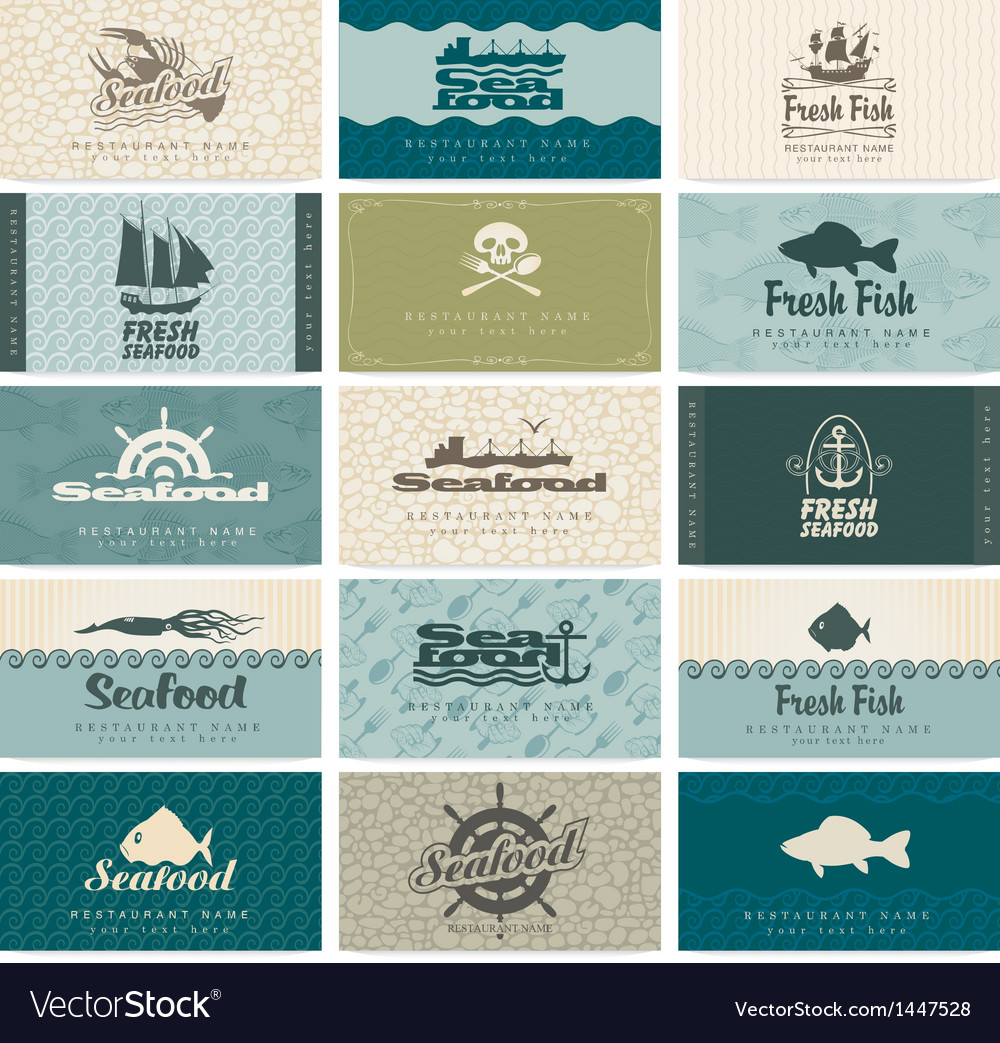 Seafood vector | Price: 3 Credit (USD $3)