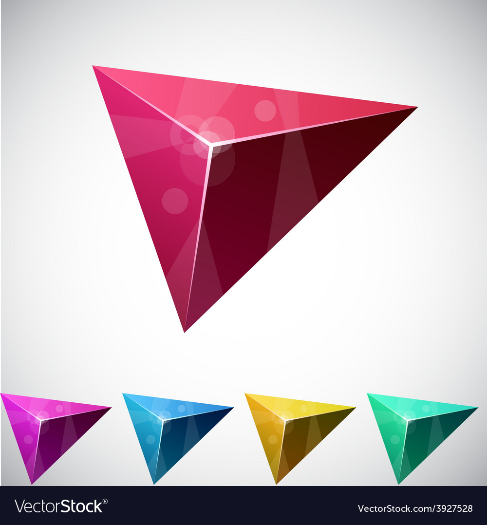 Triangular vibrant pyramid vector | Price: 1 Credit (USD $1)
