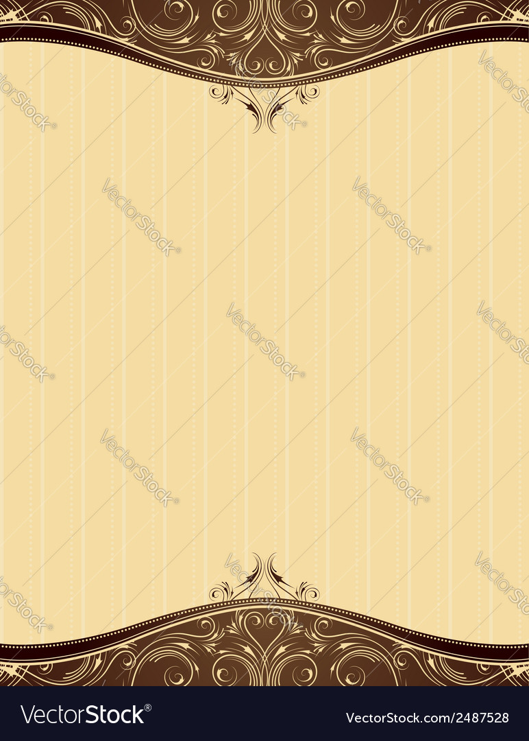 Yellow background with decorative ornaments vector | Price: 1 Credit (USD $1)