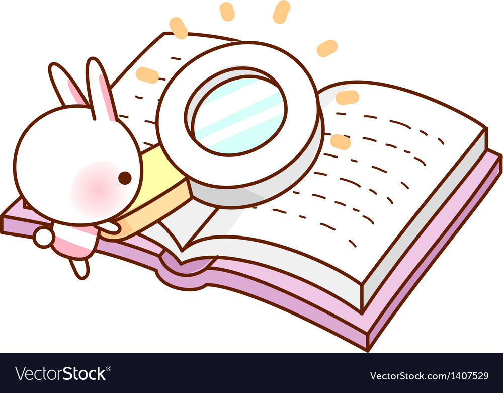 A reading through magnifying glass vector   Price: 1 Credit (USD $1)