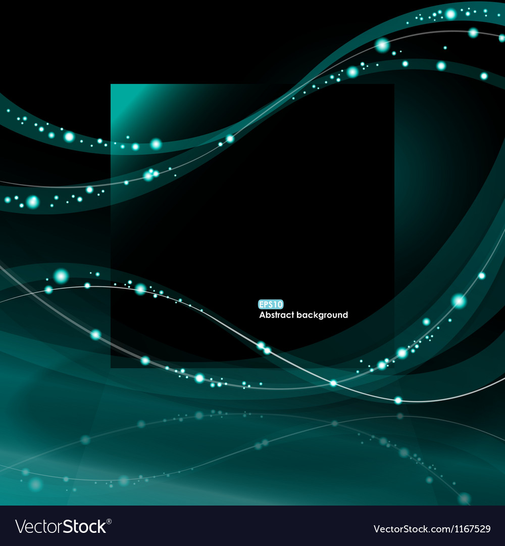 Abstract glowing waves background vector | Price: 1 Credit (USD $1)