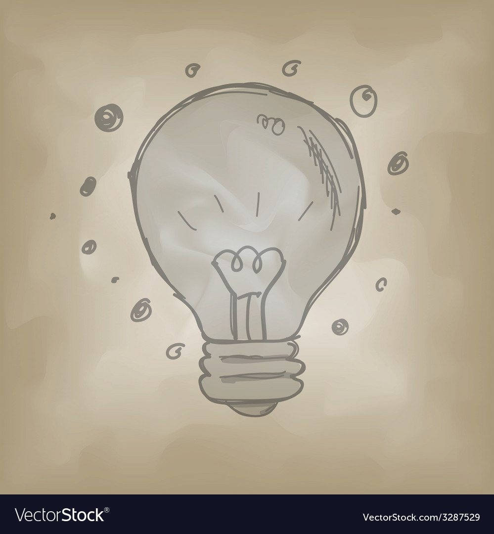 Bulb symbol sketch creative idea concept vector | Price: 1 Credit (USD $1)