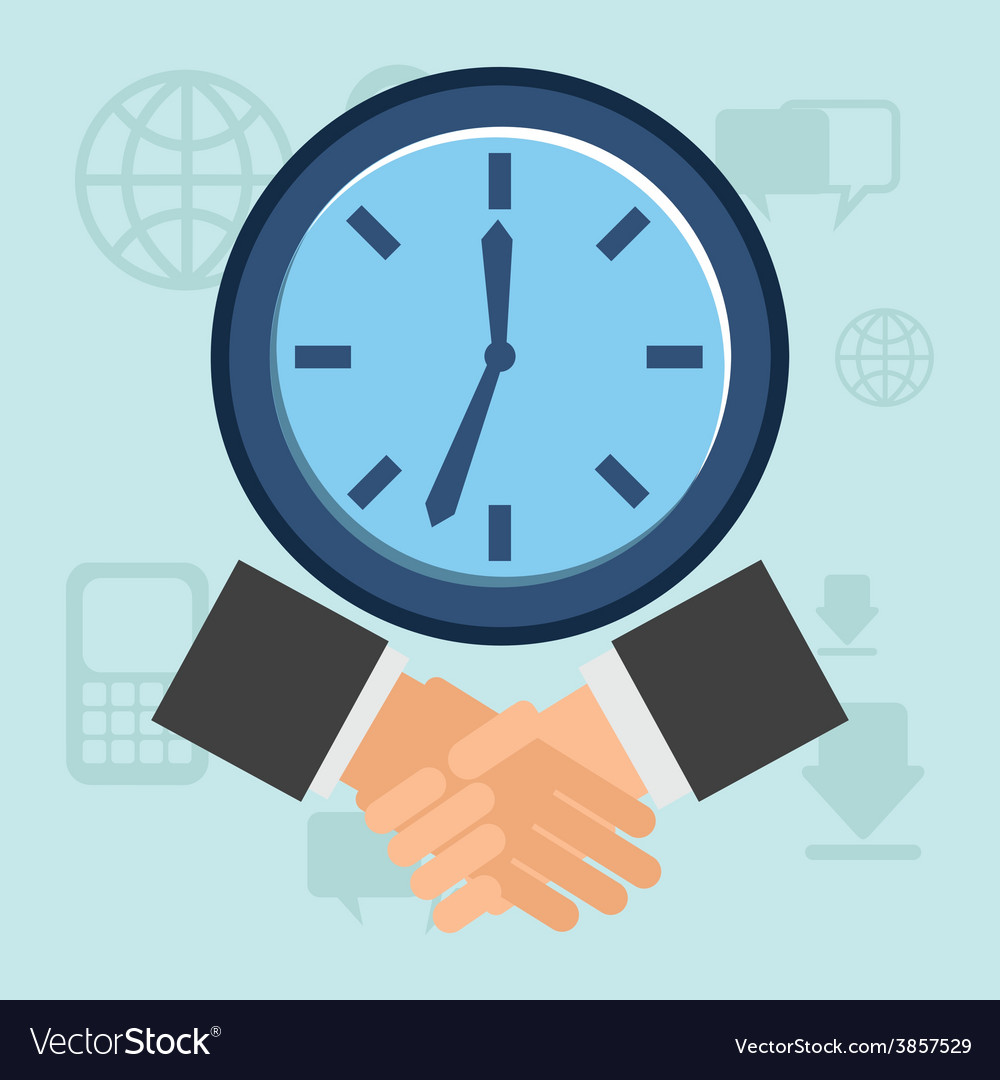 Business time vector | Price: 1 Credit (USD $1)