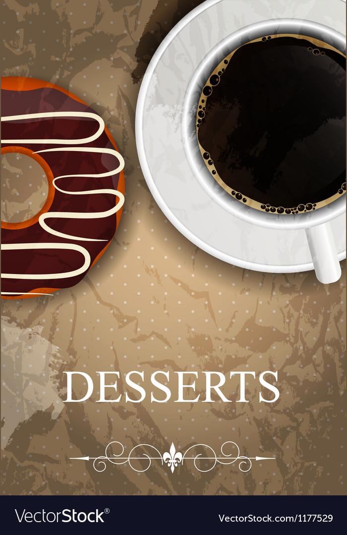 Dessert menu vector | Price: 1 Credit (USD $1)