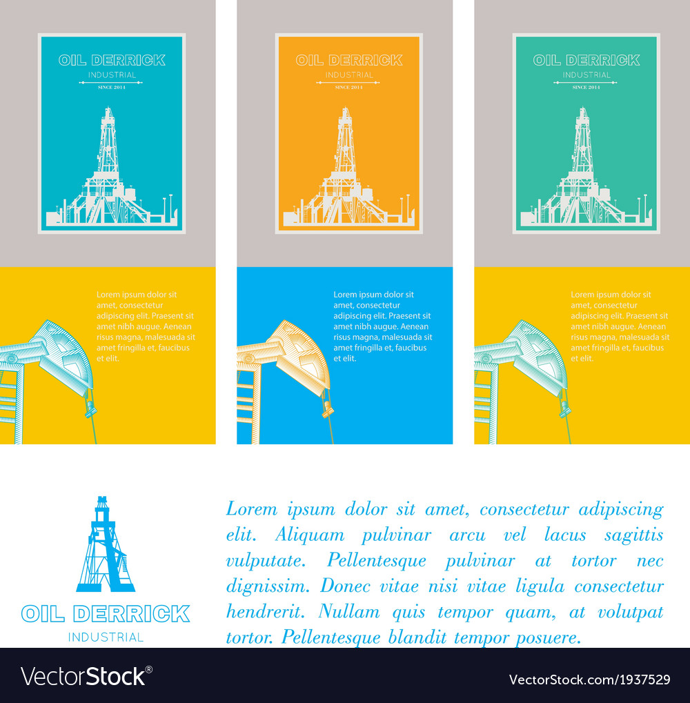 Flat technology icons over three cards vector | Price: 1 Credit (USD $1)