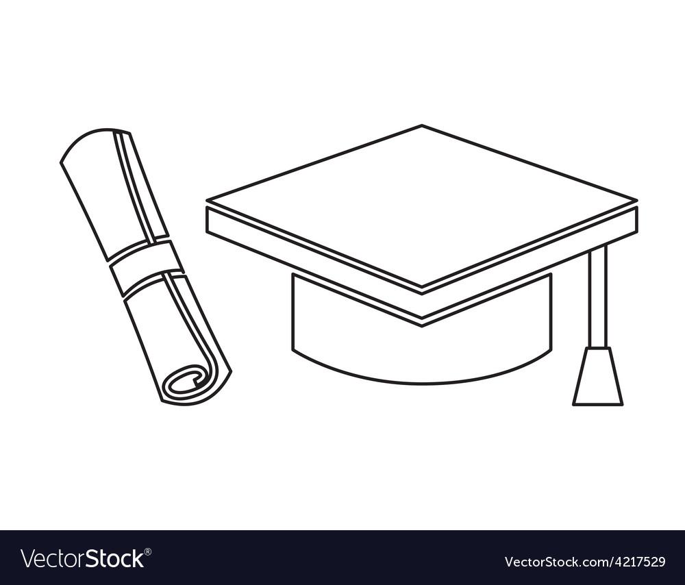 Graduation icon vector | Price: 1 Credit (USD $1)