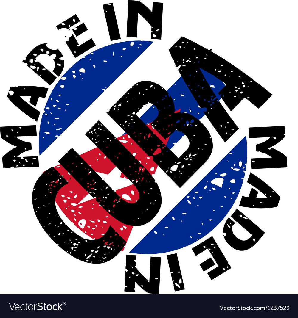 Made in cuba vector | Price: 1 Credit (USD $1)