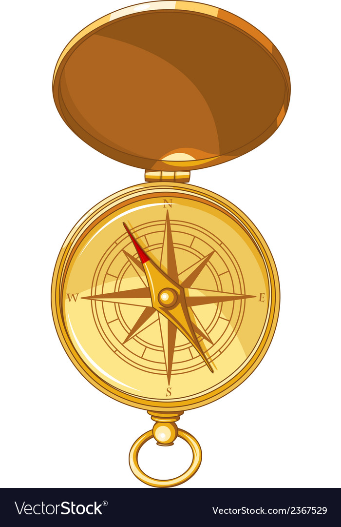 Old look compass with windrose vector | Price: 1 Credit (USD $1)