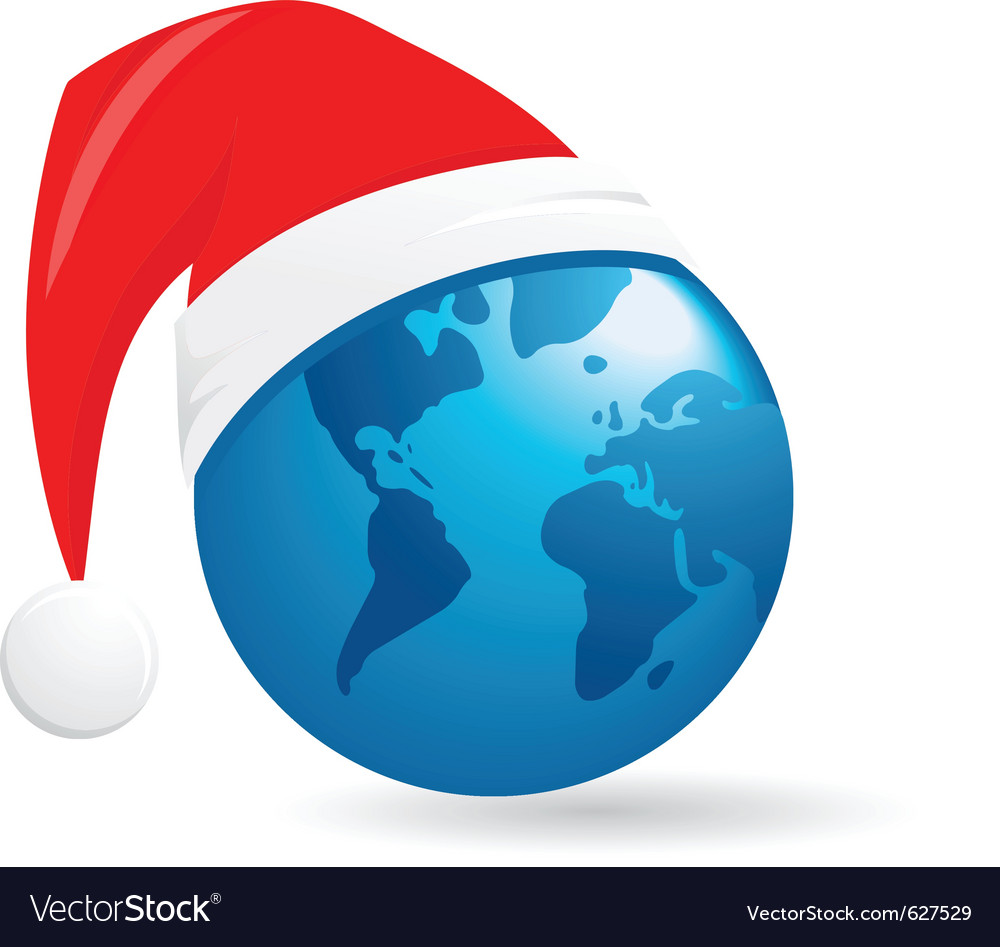 World christmas ball background vector | Price: 1 Credit (USD $1)
