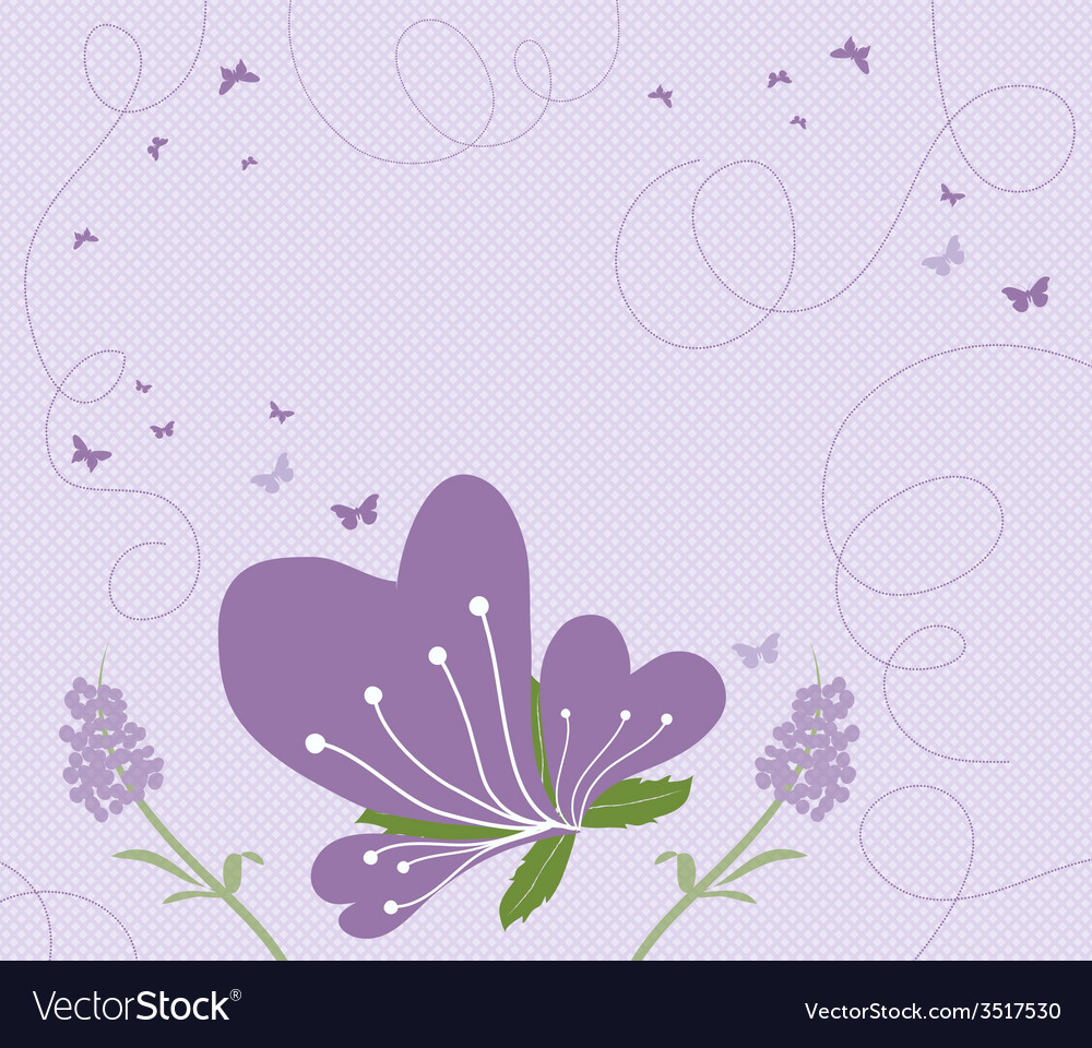 Abstract springtime purple vector | Price: 1 Credit (USD $1)