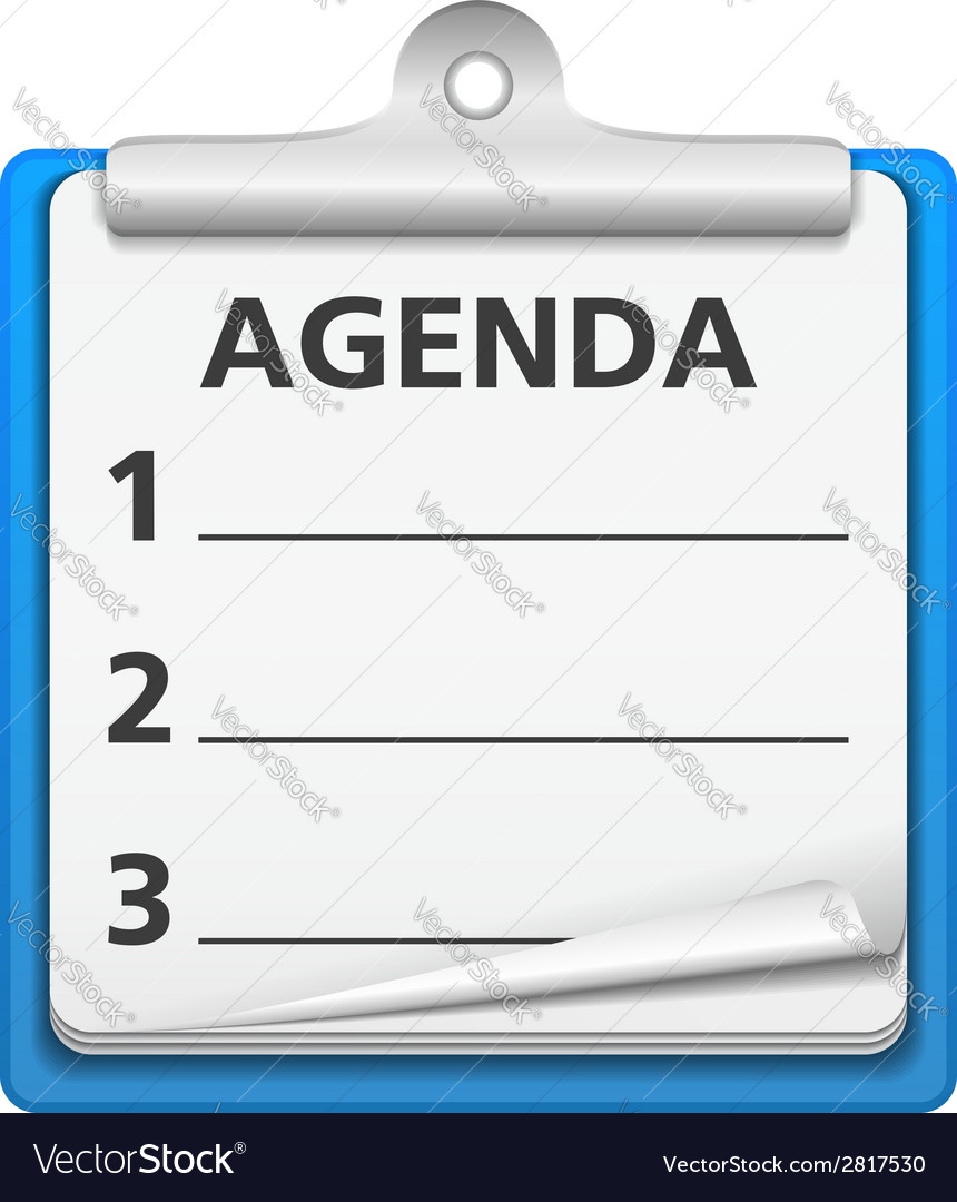 Agenda vector | Price: 1 Credit (USD $1)