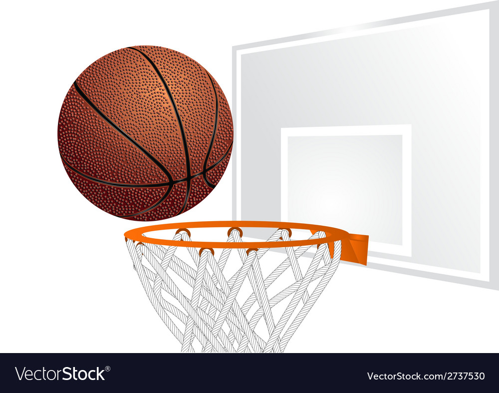 Basketball and basket vector | Price: 1 Credit (USD $1)