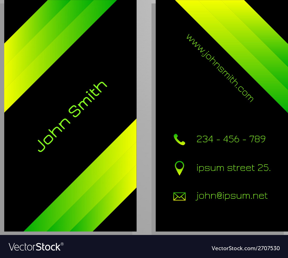Business card template - black and gren vector | Price: 1 Credit (USD $1)