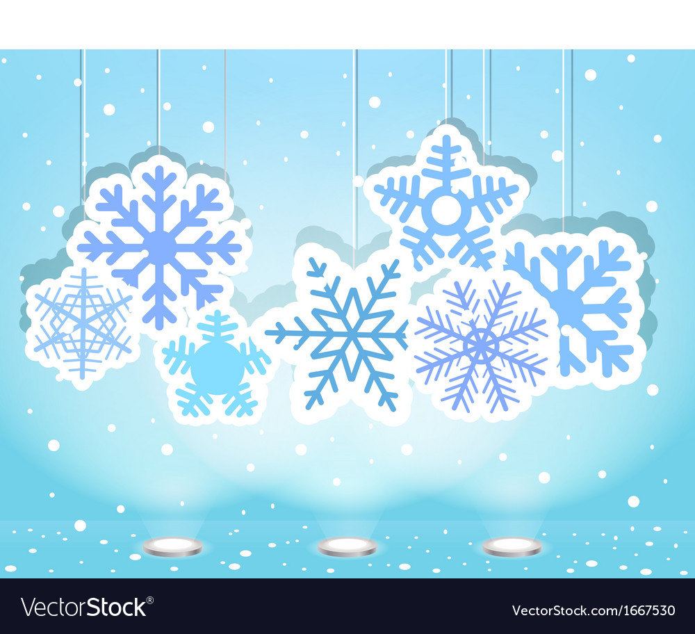 Christmas with snoflakes vector   Price: 1 Credit (USD $1)