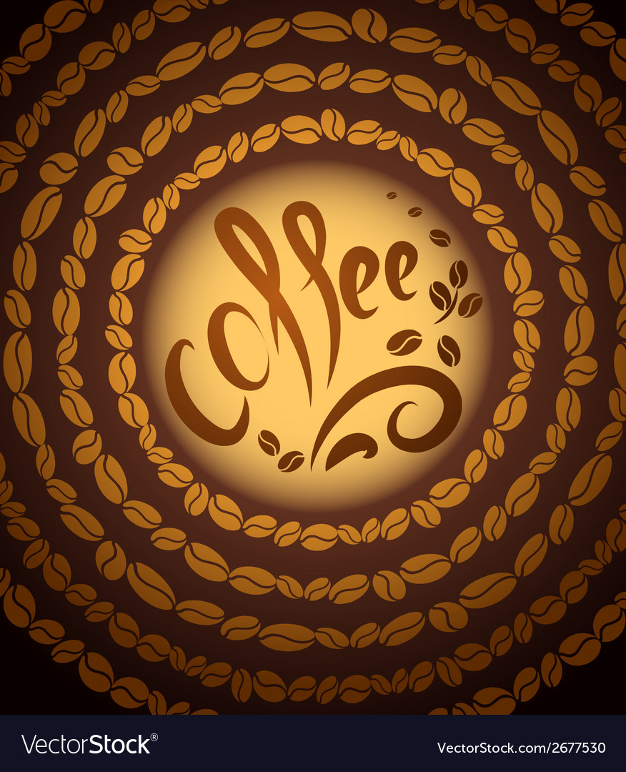 Coffee bean background vector | Price: 1 Credit (USD $1)