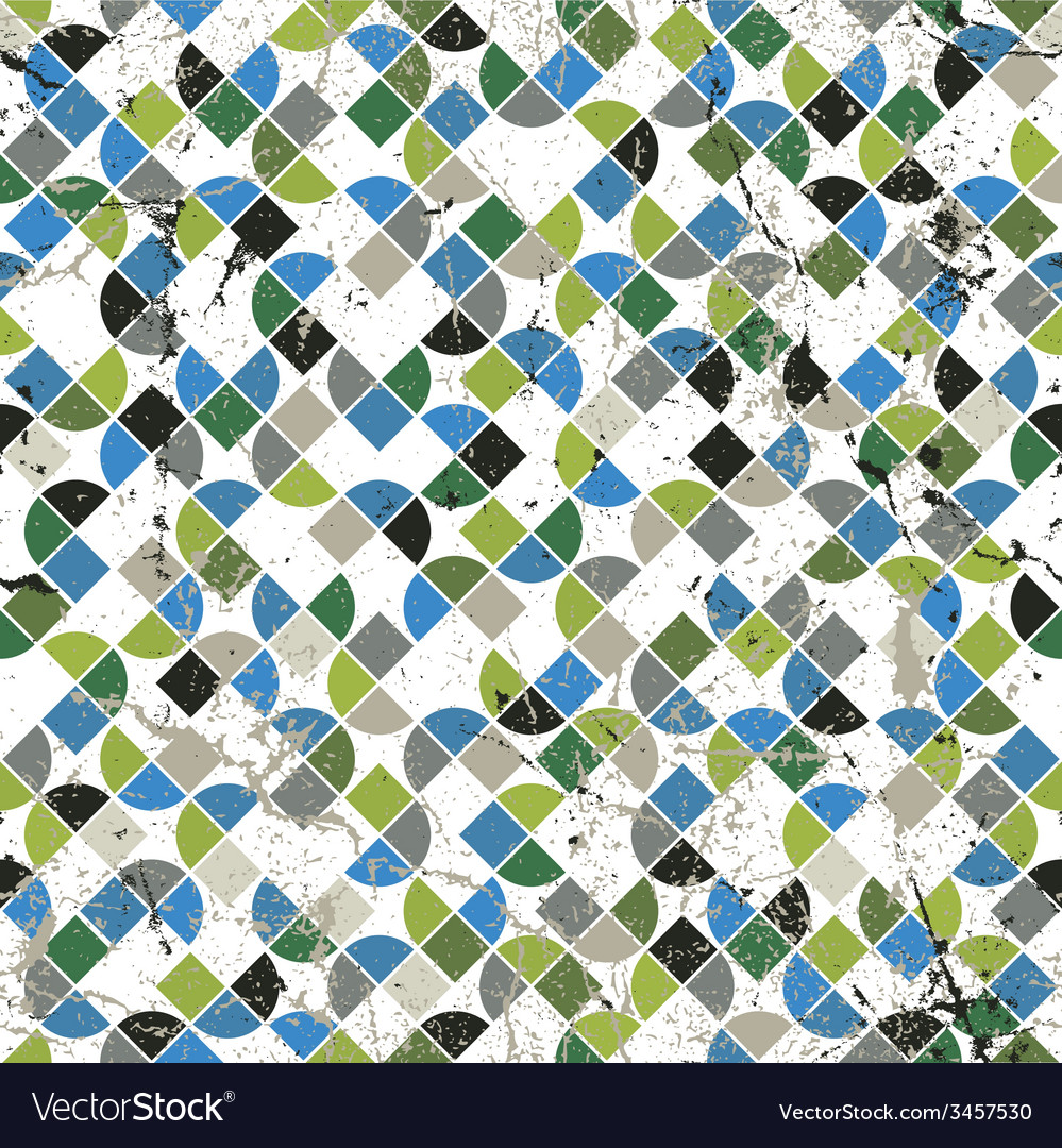 Geometric colorful abstract seamless pattern worn vector | Price: 1 Credit (USD $1)