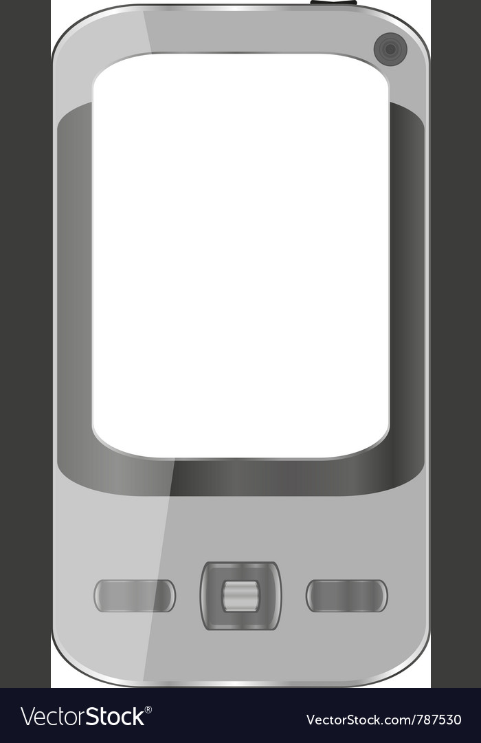 Grey smartphone vector | Price: 1 Credit (USD $1)
