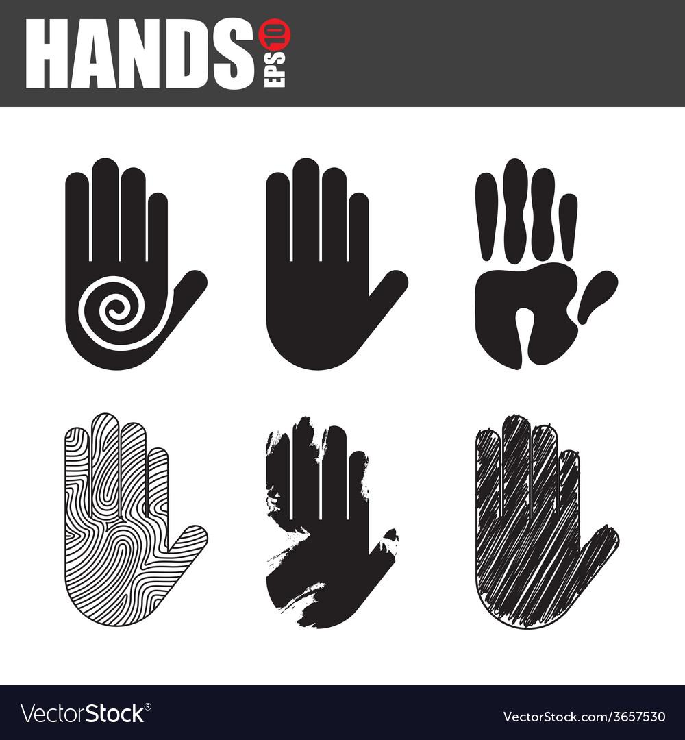 Hands design vector | Price: 1 Credit (USD $1)