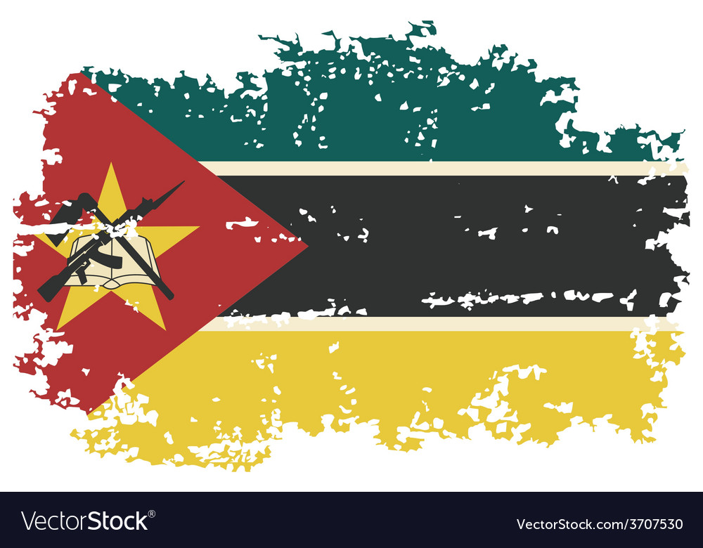 Mozambique grunge flag vector | Price: 1 Credit (USD $1)