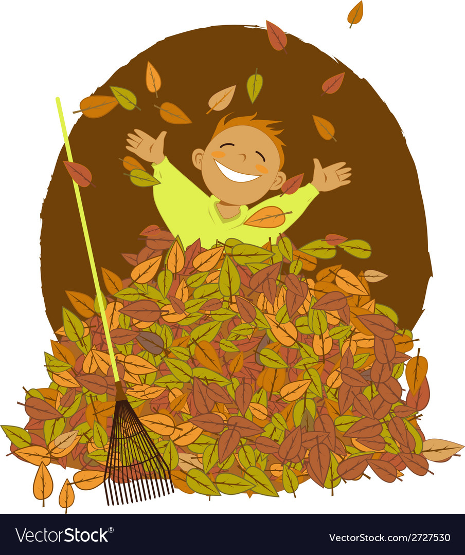 Raking leaves vector | Price: 1 Credit (USD $1)