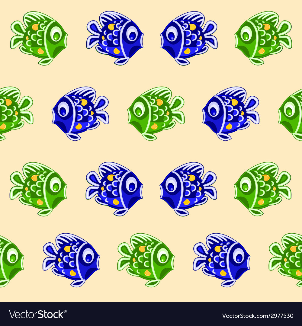 Seamless texture fish as faience christmas motive vector | Price: 1 Credit (USD $1)